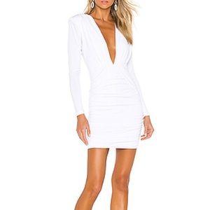LIKE NEW! White, long sleeve mini dress